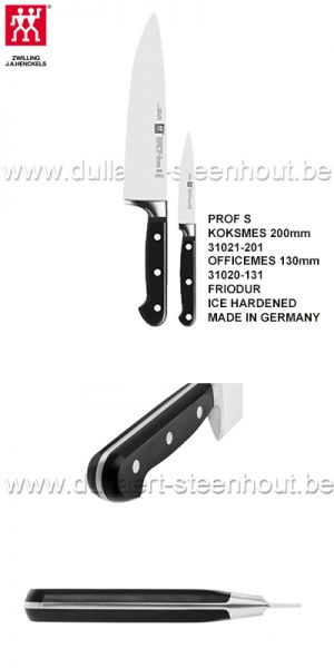 Zwilling 2 delige set: koksmes PROF S 200mm & officemes 130mm
